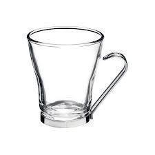 Coffee Mug Glass Oslo Verdi Wire-handle Cappucino Set Of 4 7.5 Oz