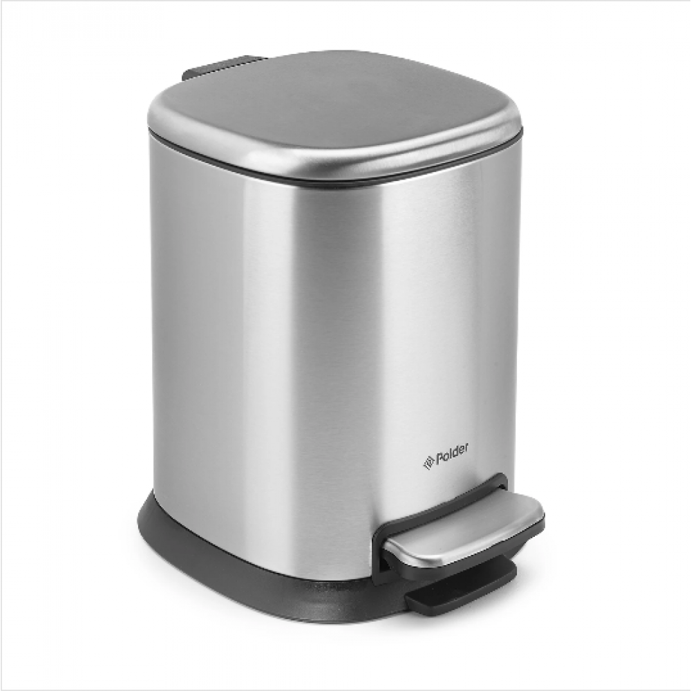 Step Can Sm Can/1.3 Gallon  Stainless