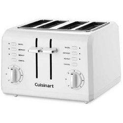 Electric Toaster Compact White 4--1.5in.Slots