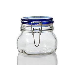 Jar Glass Wire-clasp Fido Blue-top 0.5l 17.5oz