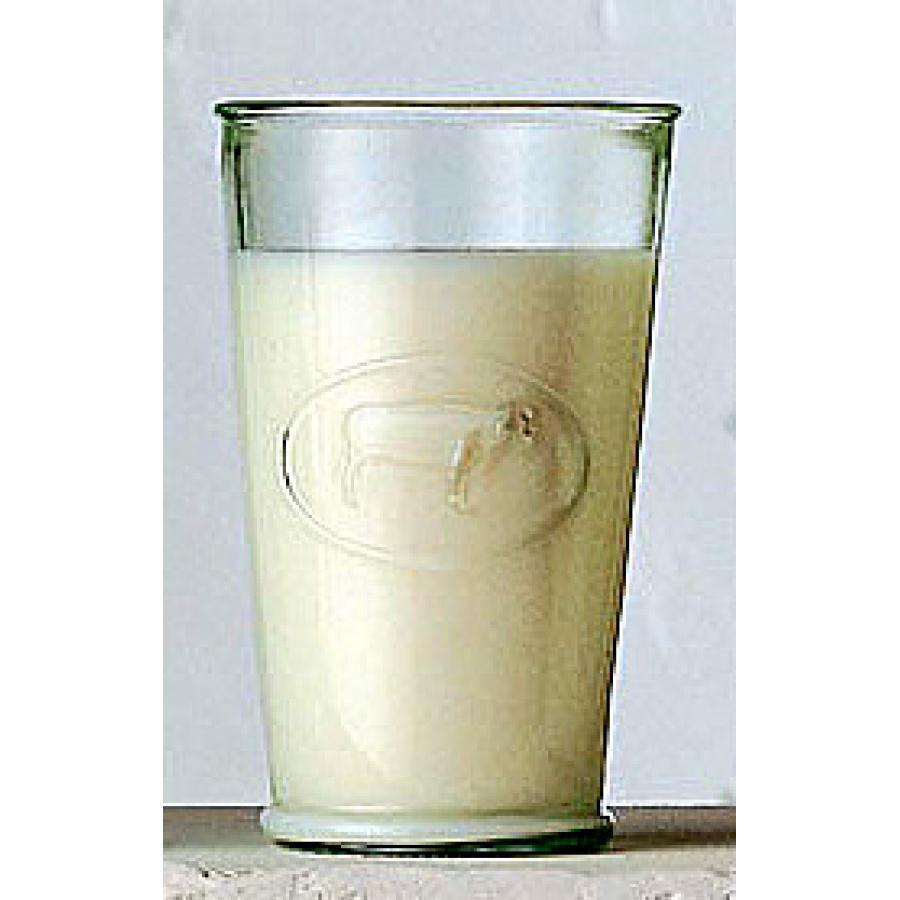 Drinkware Glass Recycled 16oz Embossed-cow