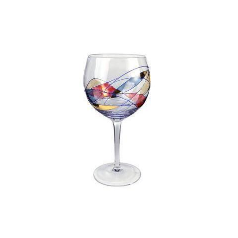 Drinkware Glass Helios Stained-Glass Wine Balloon 18oz