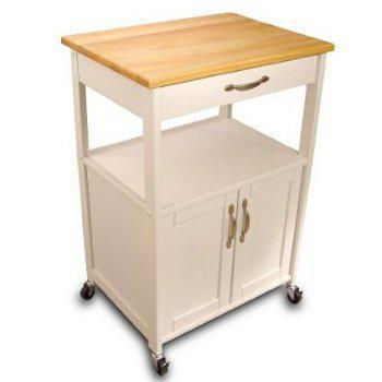 Kitchen Cart With White Base 23x17
