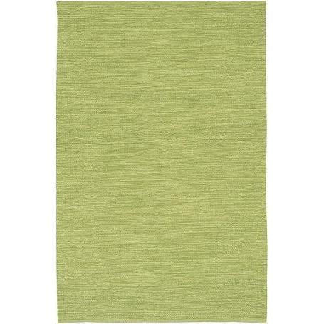 India 3.6ft X 5.6ft Lime Green Solid Rug