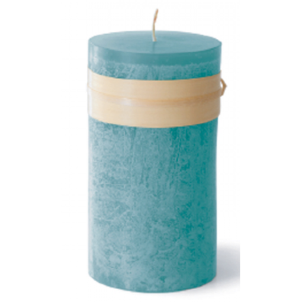 2 X 4in Pillar Candle - Sea Glass Blue