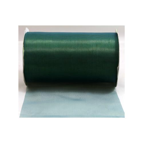 Ribbon 6 X 10y Sheer Cut Edge Ice Blue & Green