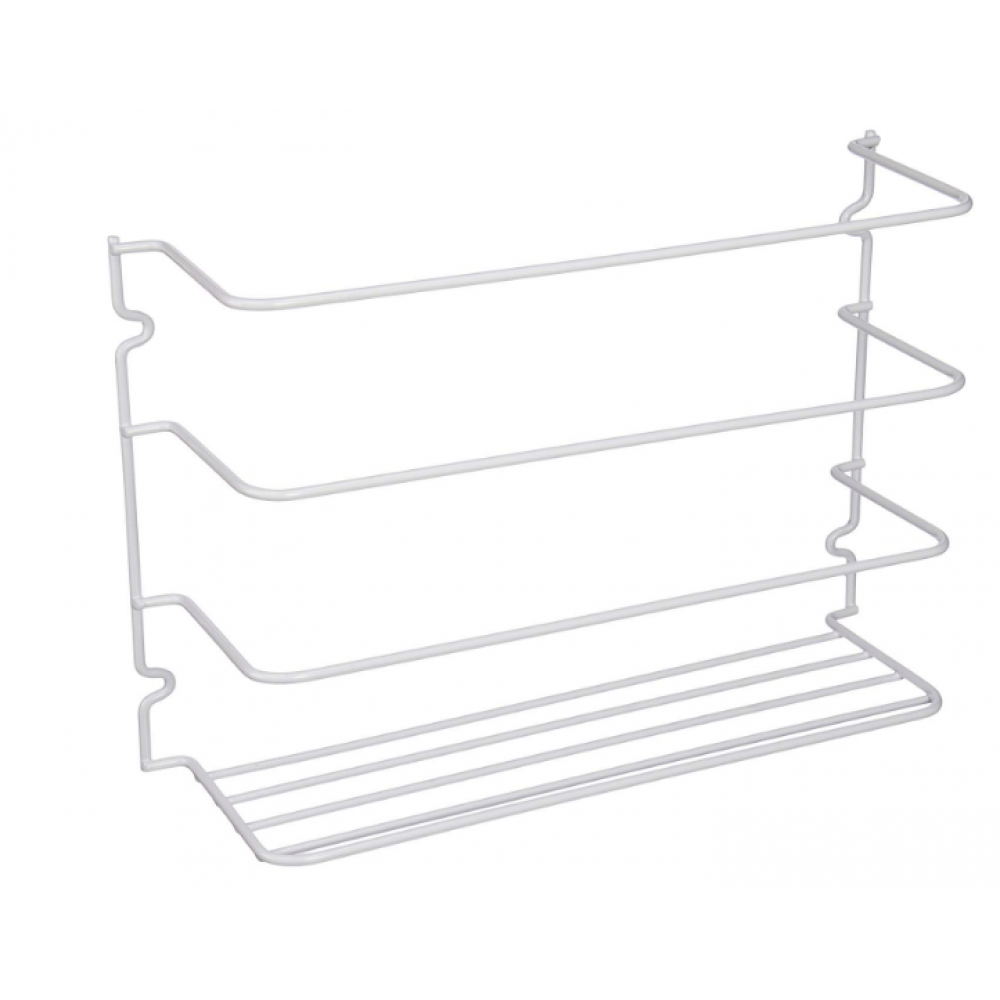 Cabinet Wrap Rack - White