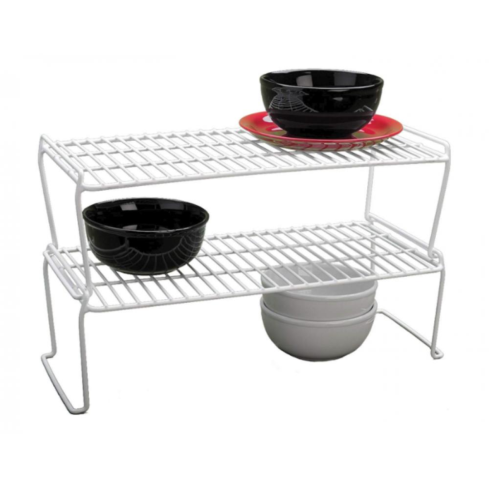 Stacking Shelf - Medium Long - White