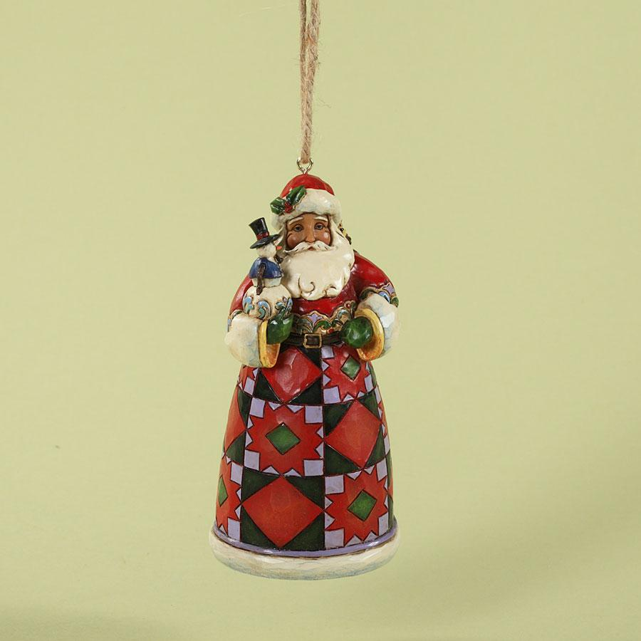 Ornament Jim Shore Santa Toybag Snowman