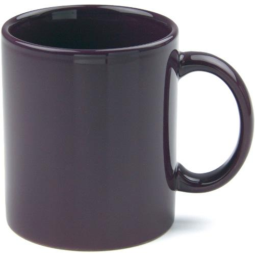 Mug Cafe Earth Tones 11 Oz Aubergine Purple