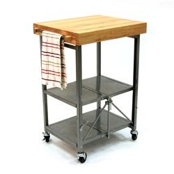 Origami Folding Kitchen Cart - Grey
