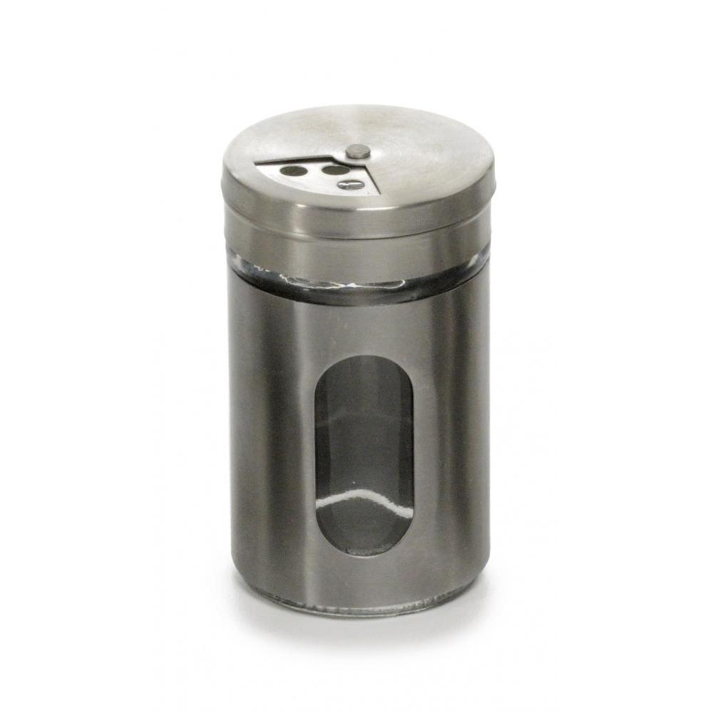 Spice Jar Glass Metal Case Shaker 2oz