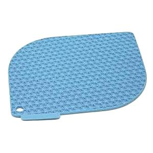 Pot Holder Silicone Honeycomb Light Blue