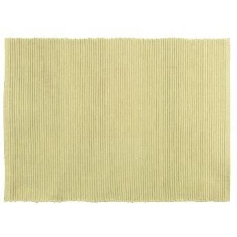 Placemat Ribbed Tan-cream