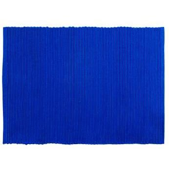 Placemat Ribbed Blue-navy