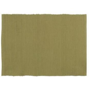 Placemat Ribbed Tan-wheat