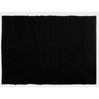 Placemat Ribbed Black
