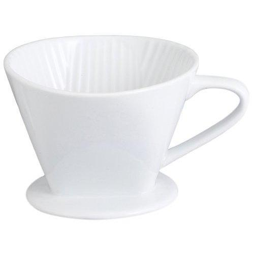 Pour Over Coffee Porcelain White Filter Cone #2