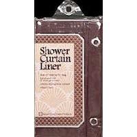 Shower Curtain Liner Magnetic Burgundy