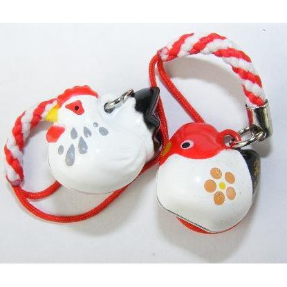 Mini Bell Chicken 2 Asst Red/blk