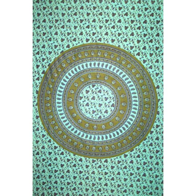 Tapestry Single Size Circle Vine Green