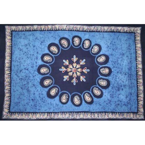 Tapestry Twin Size Multi Batik Blue