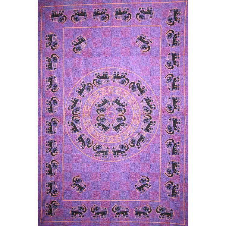 Tapestry Twin Size Fancy Elephant Purple