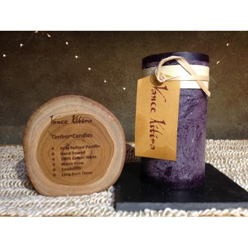 3.25 X 6in Pillar Candle - Dark Plum