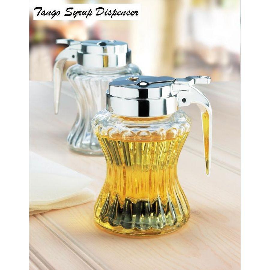 Syrup Dispenser Glass Tango Embossed Waist
