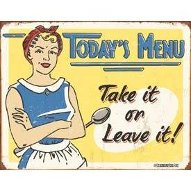 Tin Sign - Today\'s Menu