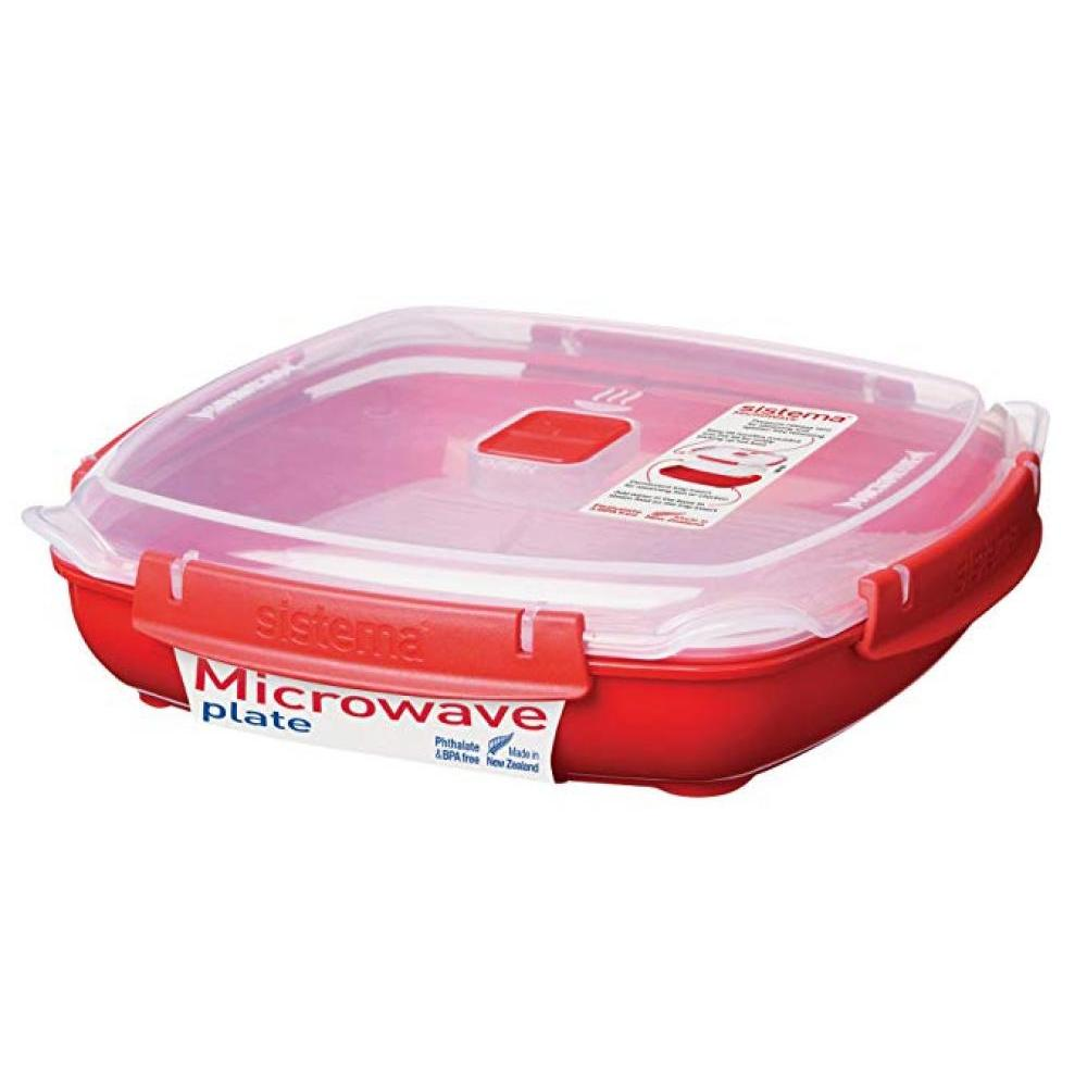 Microwave Food Storage Container Plate Med 880