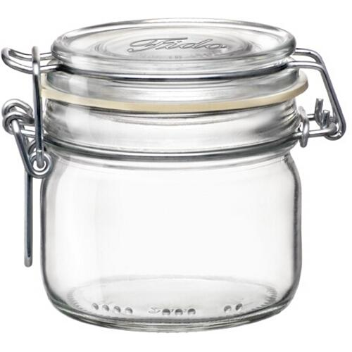 Jar Glass Wire-clasp Fido Clear-top 0.15l