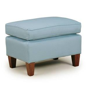 Risa 50s Club Ottoman Espresso Feet Tranquil ( Picture Does Not Reflect Fabric Or Finish )
