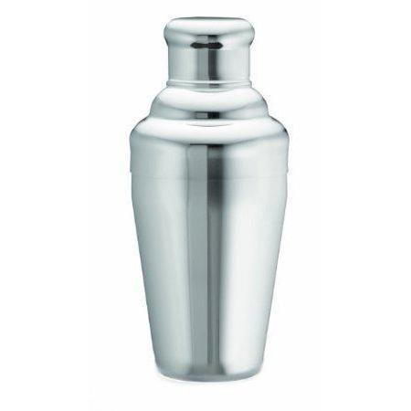 Cocktail Bar Shaker Stainless Steel Button Top Small 12oz