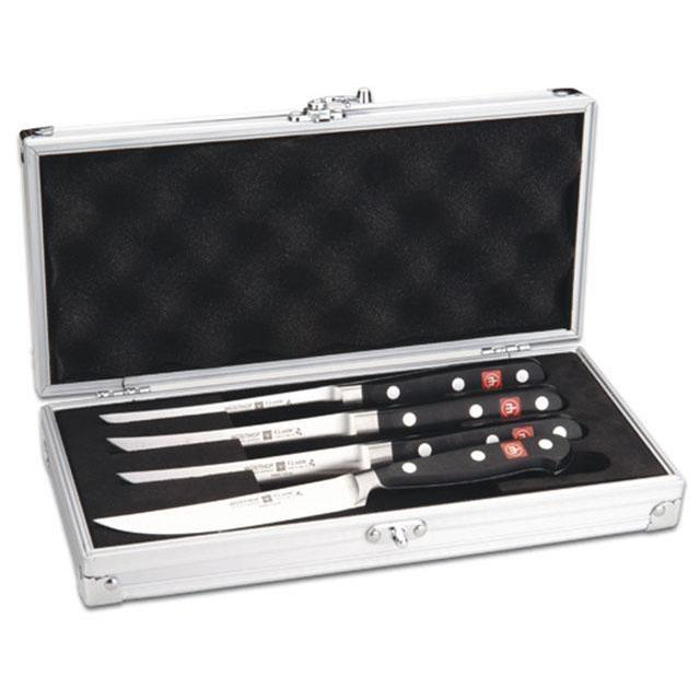 Knife Set Classic Steak Knife 4pc W/ Case