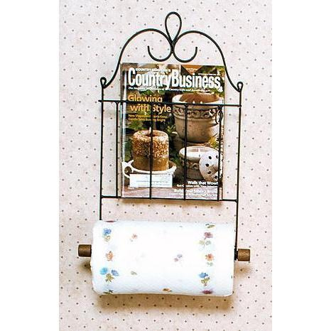 Paper Towel Holder Wire With Magazine Holder