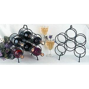 Wine Bottle Holder Rack Standing Wire 6 Bottle