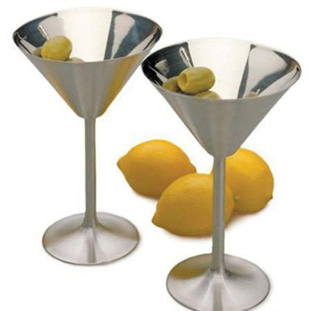 Drinkware Stainless Steel Martini Goblet 2 Pieces