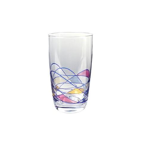 Drinkware Glass Helios Stained-Glass Tumbler 14oz Hiball