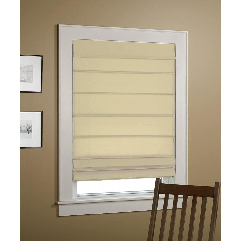 Roman Shade Insulated Ivory 32inx64in