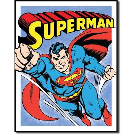 Tin Sign - Superman Retro