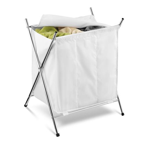 Laundry - Hamper Triple Folding Chrome