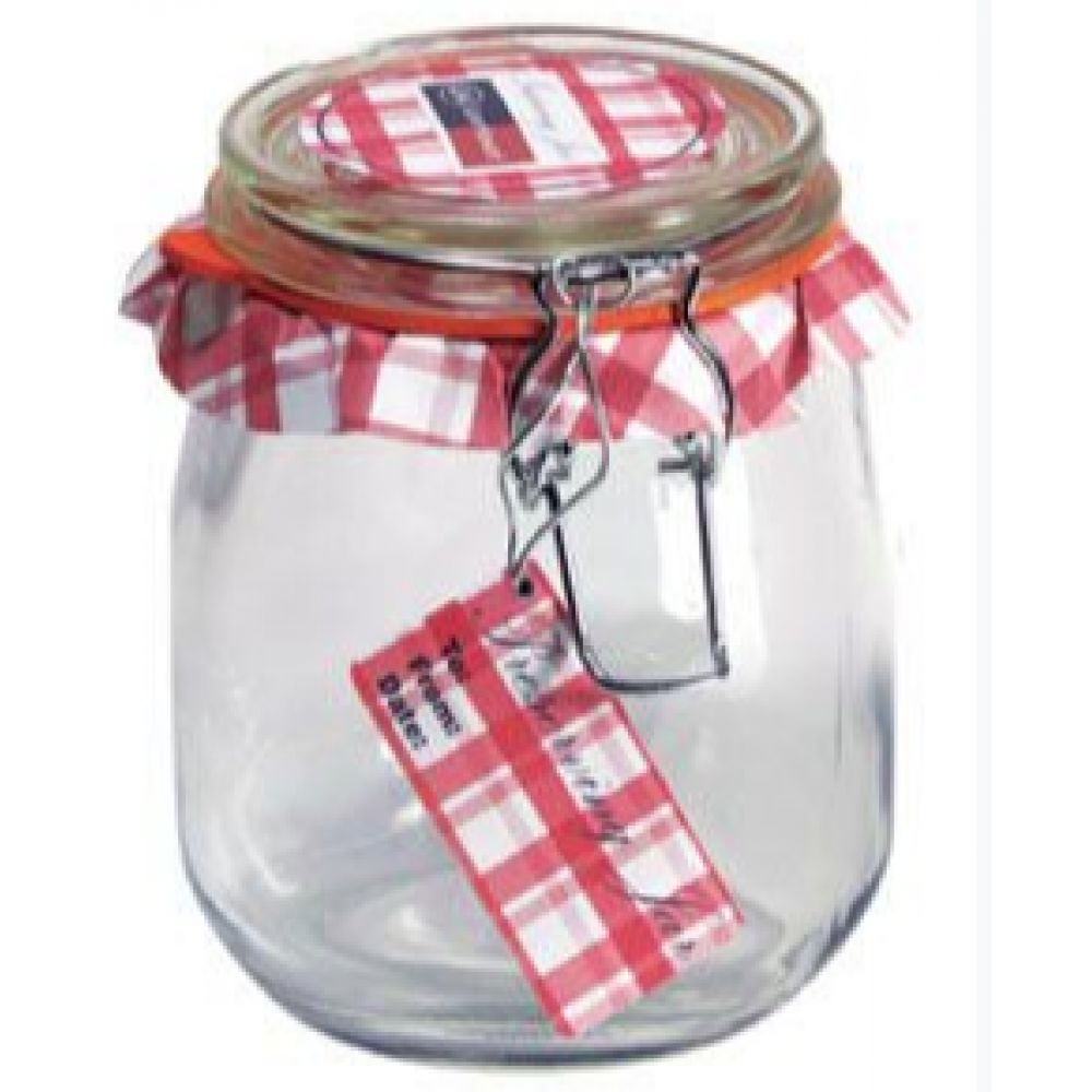 Glass Jar Wire-clasp Bail & Trigger 026oz 3/4liter