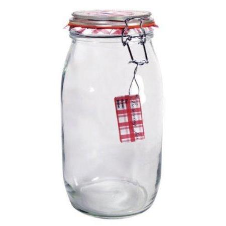 Glass Jar Wire-clasp Bail & Trigger 102oz 3liter