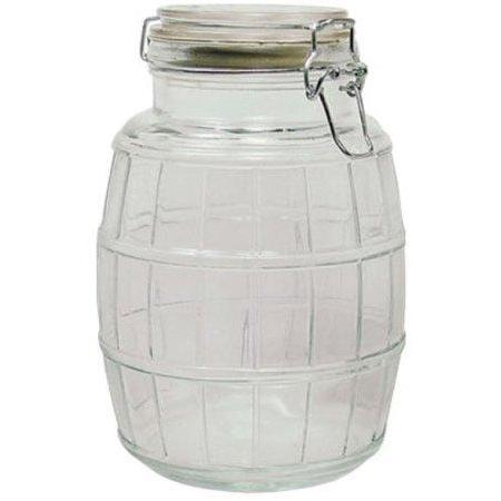 Glass Jar Wire-clasp Bail & Trigger Cracker 74oz 2.2l