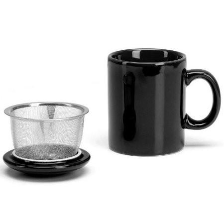 Mug Tea Infuser Reaz Pot 11oz Black