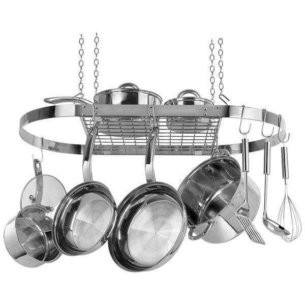 Pot Rack Oval Stainless Steel