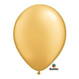 Balloon Latex 11in Metallic Gold