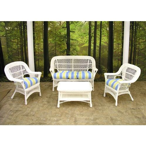 Mackinac Outdoor Wicker Chair White ( Discontinued )