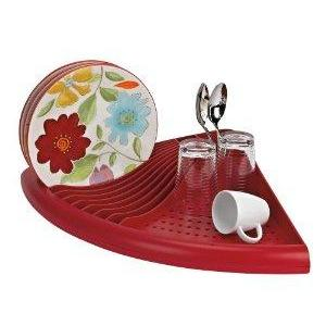 Dish Drainer Space Saver 3 In 1 Red